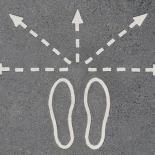 בחירה חיצים חצים כביש רגליים אפשרויות